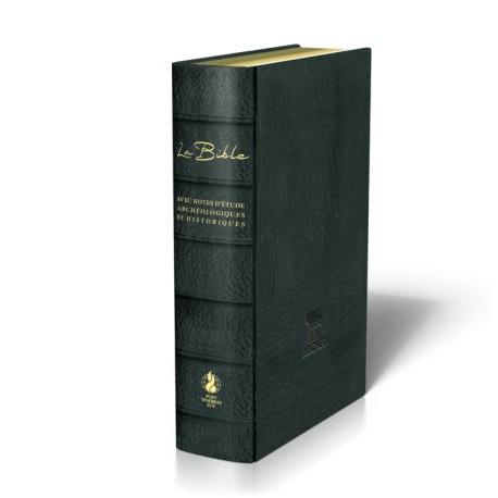 Bible Segond 21 - Avec notes d'étude archéologiques et historiques - Cuir noir