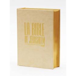 Bible de Jérusalem compacte blanche tranche dorée