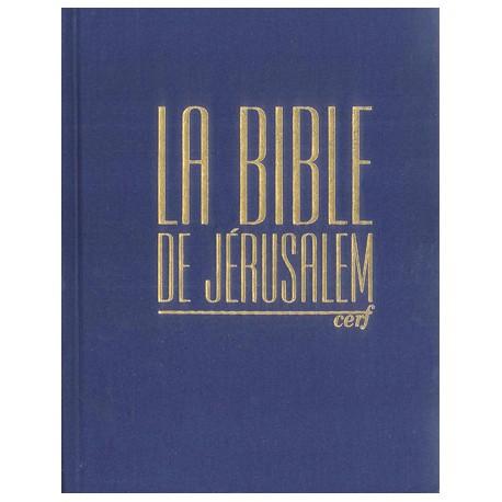 La Bible de Jérusalem - Major toile marine - Etui cartonné
