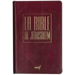 La Bible de Jérusalem - Poche PVC bordeaux