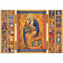 Triptyque religieux Les Mystères du Rosaire