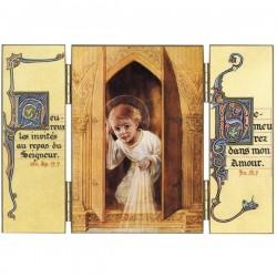 Triptyque religieux L'Enfant Jésus au Tabernacle