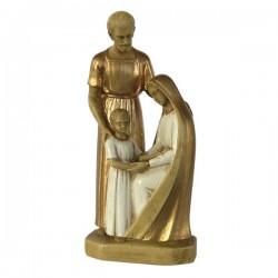 Statue religieuse de la Sainte Famille (polychrome)