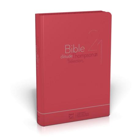 Bible d'étude Thompson 21 Sélection - Couv. souple rouge, zipper