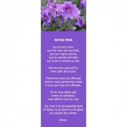 Collection Signets Notre Père Fleurs - Lot de 20 signets différents