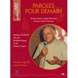 Paroles pour demain - Audio livre - CD