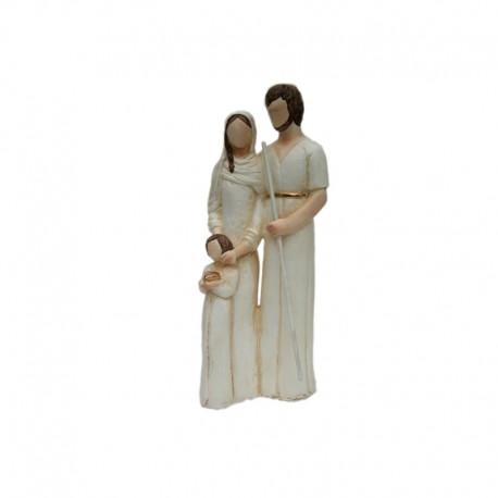 Statue religieuse de la Sainte Famille - 20 cm