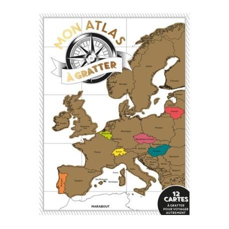 Mon atlas à gratter, 18 cartes à gratter pour voyager autrement
