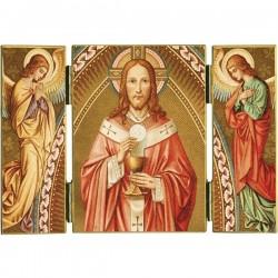 Triptyque religieux Le Christ Prêtre