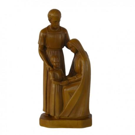 Statue religieuse de la Sainte Famille (bois clair 20 cm)