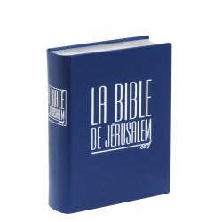 Bible de Jérusalem Major cuir bleu sous coffret tranches argent