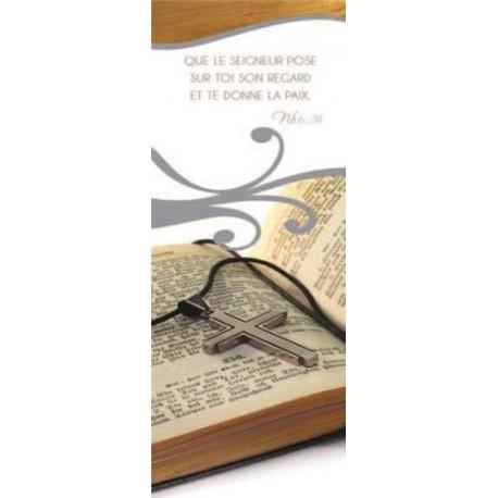"""Lot de 20 - Signet """"Bible - Que le Seigneur pose sur toi"""""""