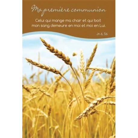 Lot de 20 - Carte simple Ma première communion