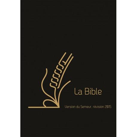 Bible du Semeur 2015, cuir, onglets avec zip [Relié]