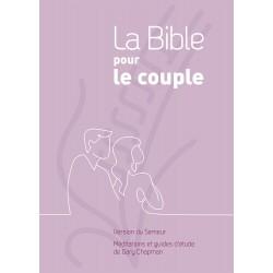 La Bible pour le couple. Couverture rigide mauve [Relié] - Méditations et guides d'étude de Gary Chapman